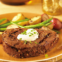 Tenderloin Steaks with Horseradish Cream